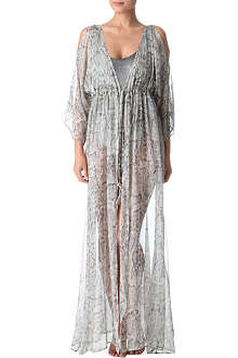 MELISSA ODABASH Gwyneth snake-print cover-up