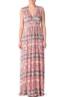 MELISSA ODABASH Jamiee ikat long beach dress