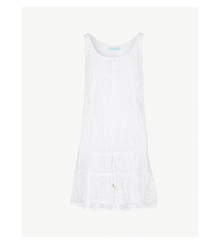 MELISSA ODABASH Jas embroidered georgette mini dress (White