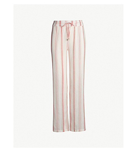 MELISSA ODABASH Krissy cotton trousers (Red stripe