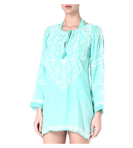 MELISSA ODABASH Laura cover-up (Mint/white