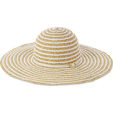 MELISSA ODABASH Laurianne straw hat (Beige/white