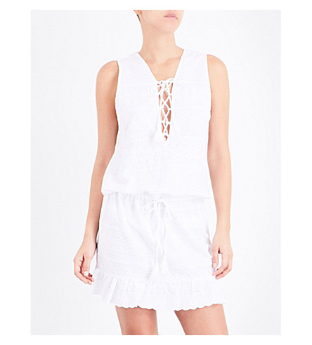 MELISSA ODABASH Layla lace mini dress (White