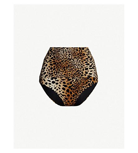 MELISSA ODABASH Lyon high-rise bikini bottoms (Cheetah