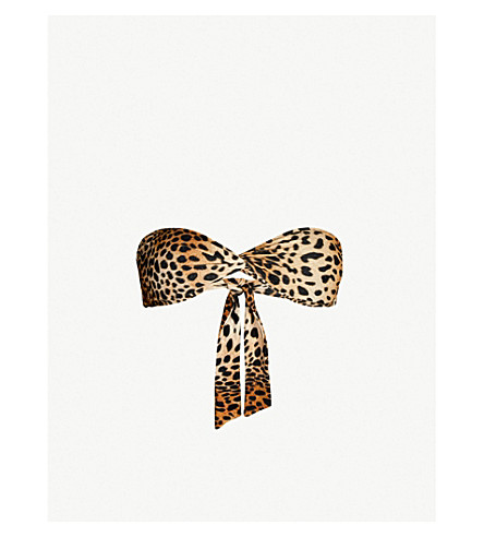 MELISSA ODABASH Lyon bandeau bikini top (Cheetah