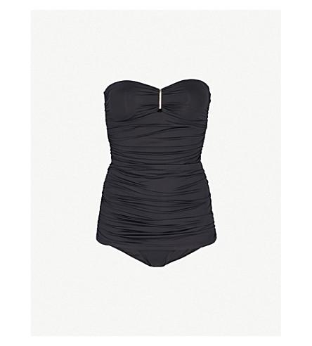 MELISSA ODABASH Mauritius ruched swimsuit (Black