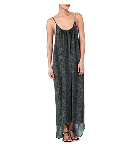 MELISSA ODABASH Melissa knitted crochet dress (Serpent