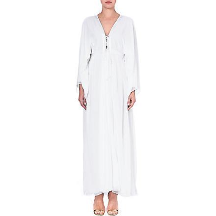 MELISSA ODABASH Natalie silk cover-up (White