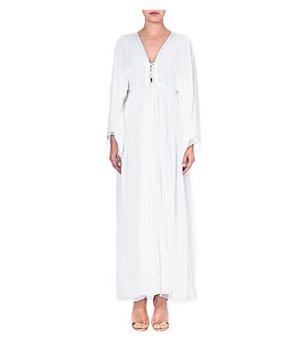 MELISSA ODABASH Natalie silk kaftan (White