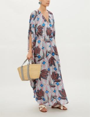 Nicola satin maxi dress