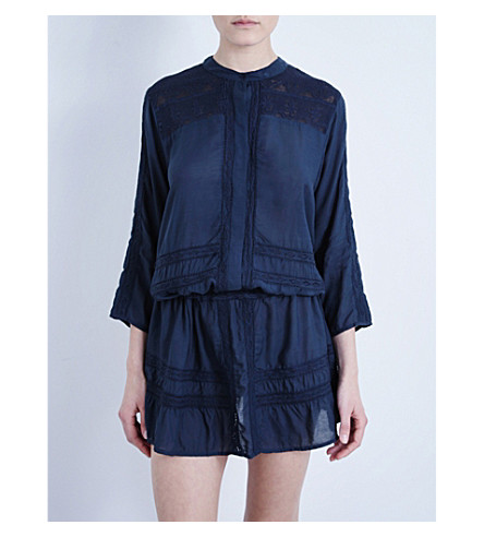 MELISSA ODABASH Nicole embroidered dress (Navy