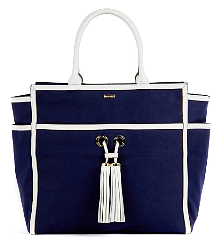MELISSA ODABASH Palm Beach canvas tote bag (Navy