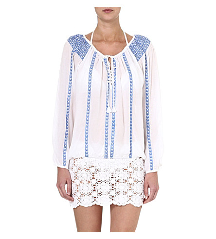 MELISSA ODABASH Patty top (Wht/blue