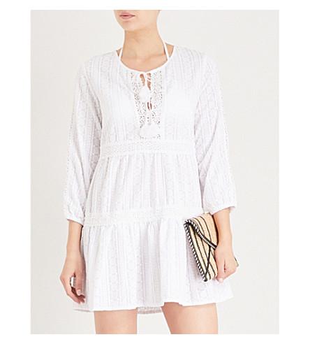 MELISSA ODABASH Reid cotton-embroidered dress (White