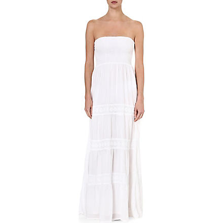 MELISSA ODABASH Ruby bandeau maxi dress (White