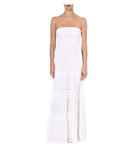 MELISSA ODABASH Ruby bandeau maxi dress (White