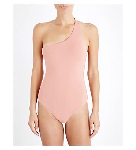 MELISSA ODABASH Seychelles one-shoulder swimsuit (Dusty rose