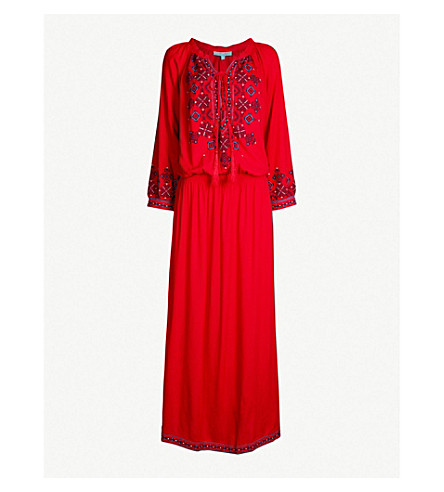 MELISSA ODABASH Sienna embroidered maxi dress (Red