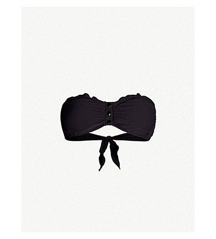 MELISSA ODABASH St Martin bandeau bikini top (Black ribbed