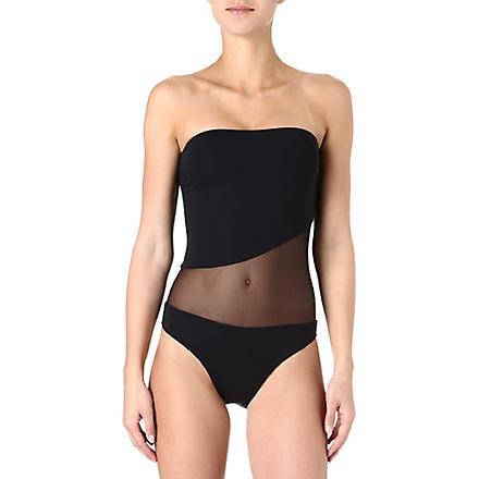 MELISSA ODABASH Torino bandeau swimsuit (Black