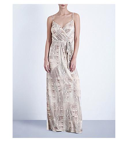 MELISSA ODABASH Zoe jersey maxi dress (Lizard