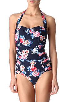 SEAFOLLY Rococo Rose halter neck swimsuit