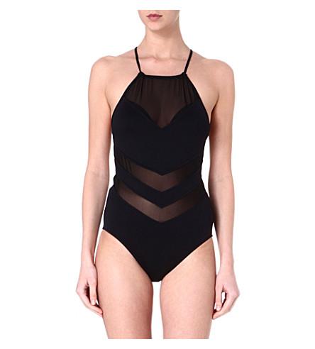 SEAFOLLY Goddess high-neck swimsuit (Black