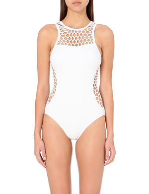 SEAFOLLY Maillot high-neck mesh swimsuit