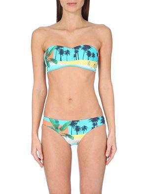 SEAFOLLY Pool-print bandeau bikini top