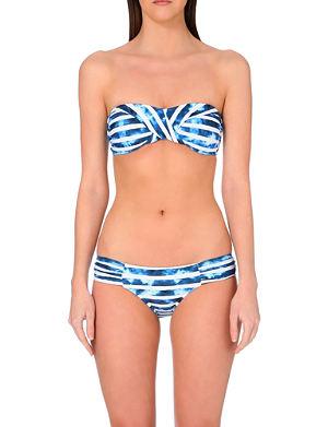 SEAFOLLY Striped bandeau bikini top