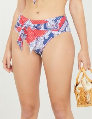 Paisley-print recycled-nylon swim briefs