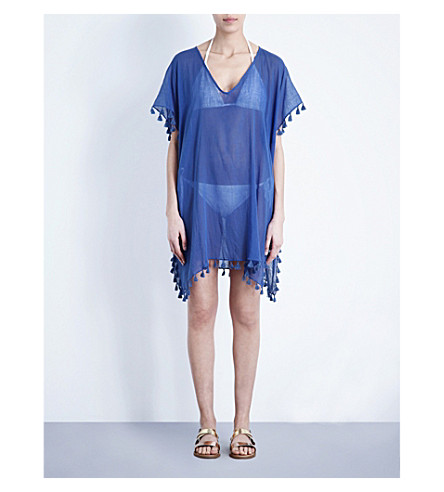 SEAFOLLY Amnesia cotton kaftan (Blue+ray