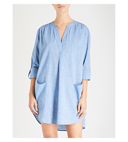 SEAFOLLY Boyfriend cotton beach shirt (Chambray