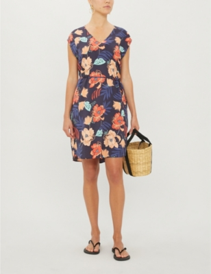 On Vacation floral-print woven dress