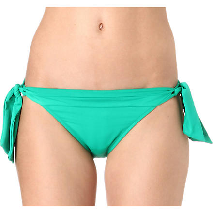 SEAFOLLY Goddess tie-side bikini bottoms (Envy