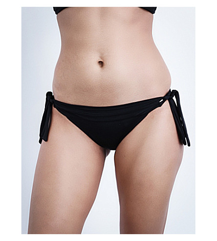 SEAFOLLY Goddess tie-side bikini bottoms (Black