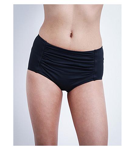 SEAFOLLY Goddess ruched bikini shorts (Indigo