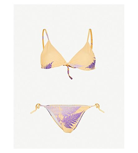 DOUBLE RAINBOUU Gold Class triangle bikini (Saffron+amethyst