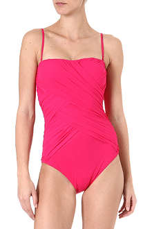 GOTTEX Lattice bandeau swimsuit
