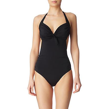 JETS BY JESSIKA ALLEN Lustre halterneck swimsuit (Black