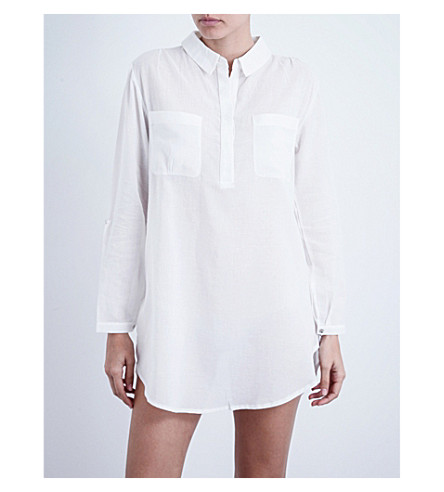 HEIDI KLEIN Manda Island oversized cotton tunic (White