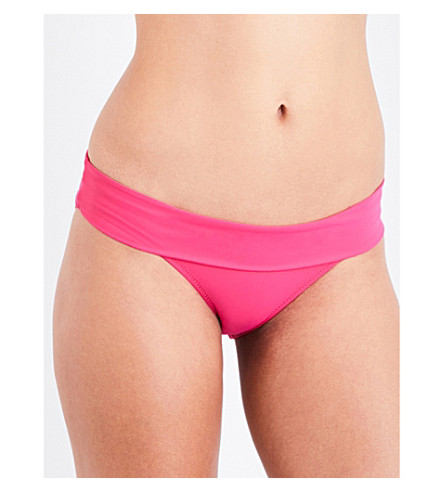 HEIDI KLEIN Antigua fold-over bikini bottoms (Hot+pink