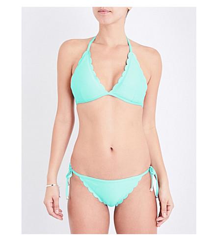HEIDI KLEIN Halterneck bikini top (Aqua