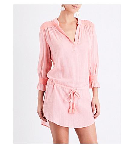 HEIDI KLEIN Capri smocked cotton tunic dress (Coral