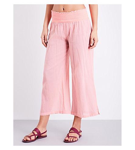 HEIDI KLEIN Capri flared cotton pants (Coral