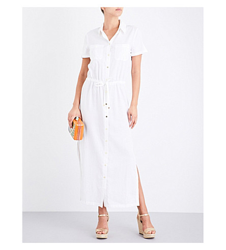 HEIDI KLEIN Maine woven maxi shirt dress (White