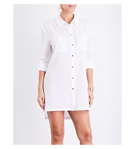 HEIDI KLEIN Maine oversized woven shirt dress (White