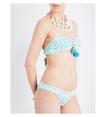 HEIDI KLEIN Heidi Klein x Sophie Anderson Isla Baru bikini top (Light+blue