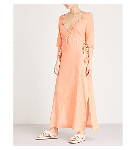 HEIDI KLEIN Tassel-trim cotton maxi dress (Coral