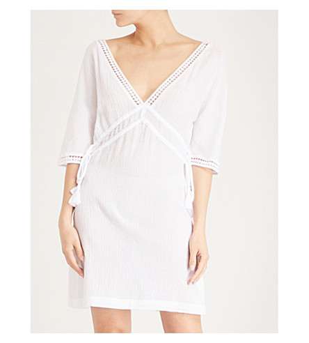 HEIDI KLEIN Tassel-trim cotton kaftan (White